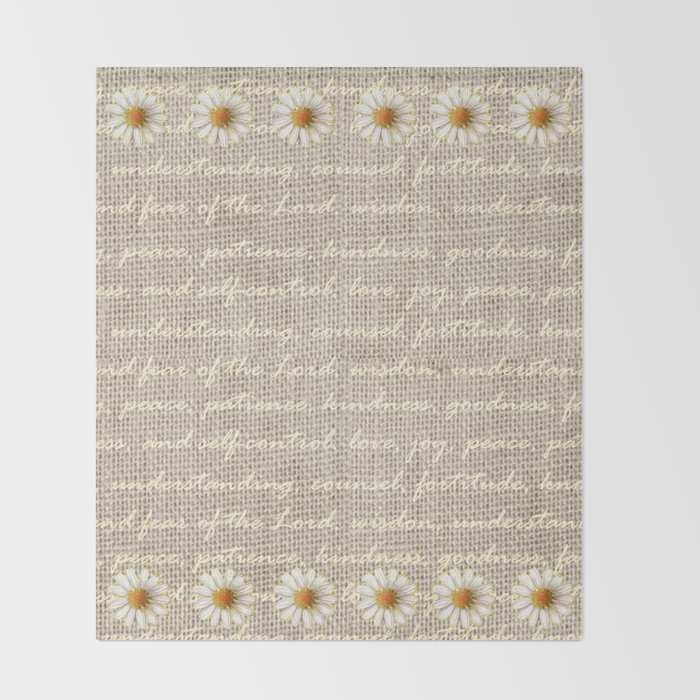 Fruits Of The Spirit With Daisy Throw Blanket By Sjantsch Society6