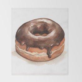Chocolate Glazed Donut Throw Blanket