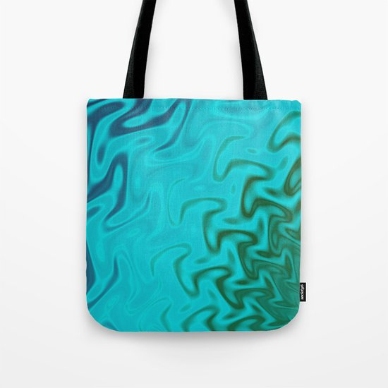 Ripples Fractal in Tropical Seas Tote Bag