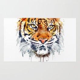 Tiger Face Close-up Rug