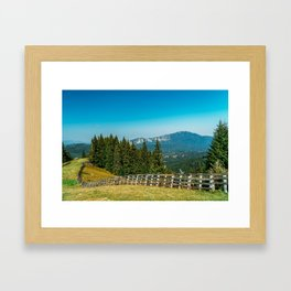 Carpathian Mountains Landscape, Travel Summer Landscape, Transylvania Mountains, Forests Of Romania Framed Art Print