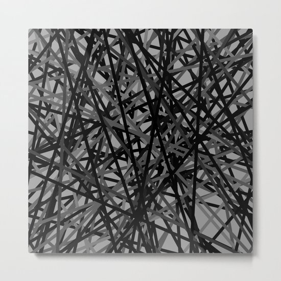 Kerplunk Extended Black and White Metal Print