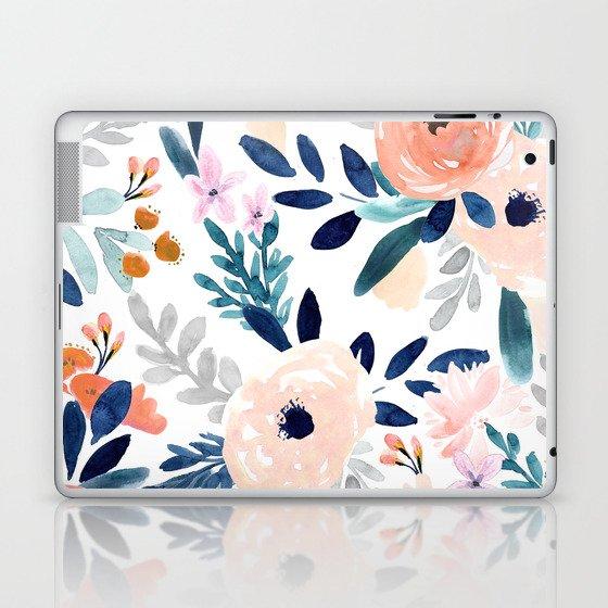 Jolene Floral Laptop & iPad Skin
