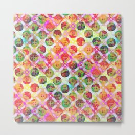 Rainbow Geometric Party Metal Print