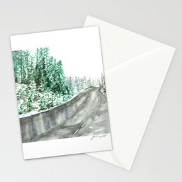 Snowy Road Stationery Cards