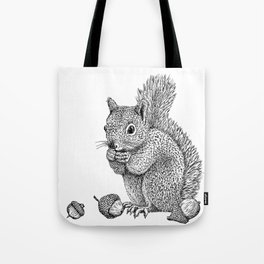 Squirrel and Acorns Tote Bag