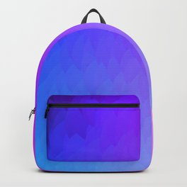 Purple, blue, and pink ombre flames Backpack