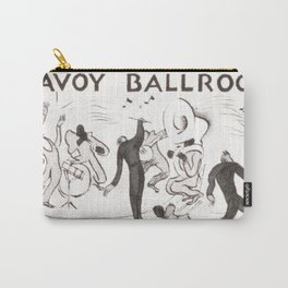Harlem Renaissance, Savoy Ballroom, Doing the Lindy Hop African American Vintage broadside painting Carry-All Pouch