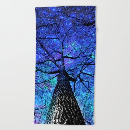 falling stars Beach Towel