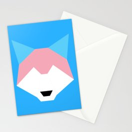 Trans pride wolf Stationery Cards