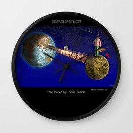 """The Moon"" illustration Denis Dubois Wall Clock"
