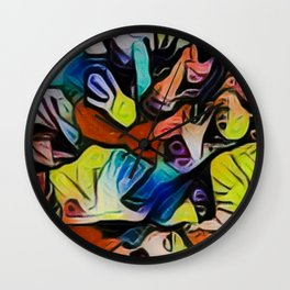 No sinners, no saints, just palms on a cave wall. Wall Clock