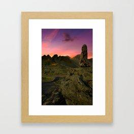 Icelandic Wooden Structure Framed Art Print