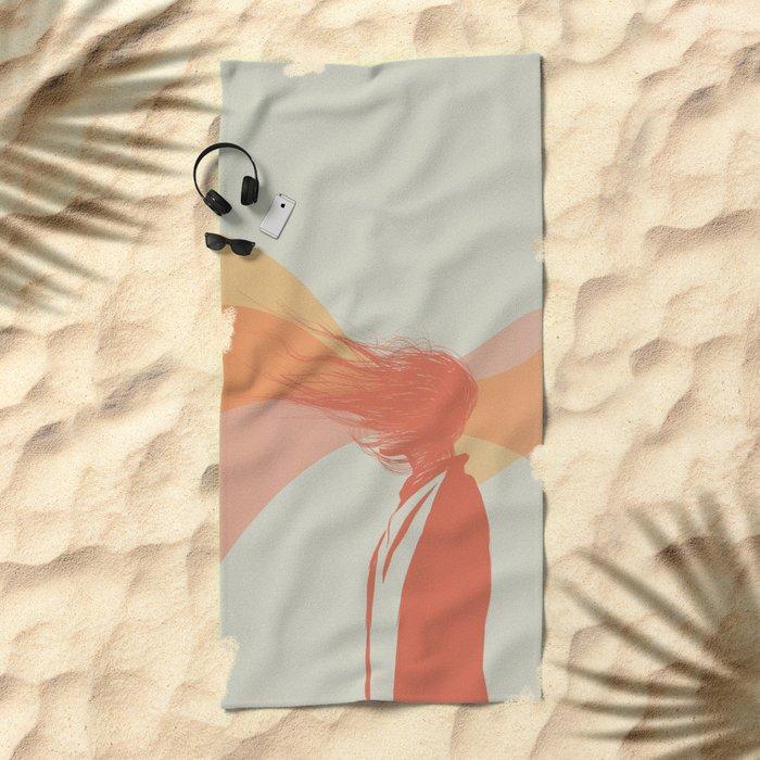 Woman Color 5 Beach Towel