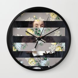 A Portrait With Bars 3 Wall Clock