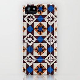 Portuguese tile pattern iPhone Case