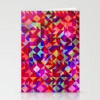 gem Stationery Cards featuring Geo Gem by Amy Sia