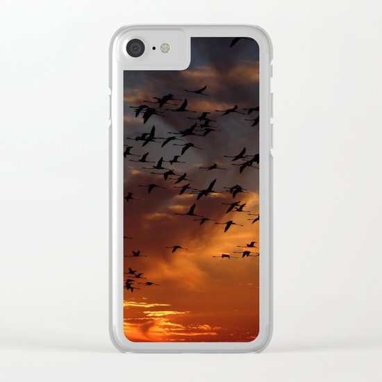 flamingos Clear iPhone Case