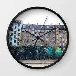 Homes, Vesterbro, Copenhagen Wall Clock
