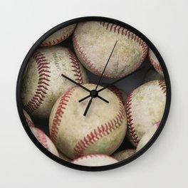 Many Baseballs - Background pattern Sports Illustration Wall Clock
