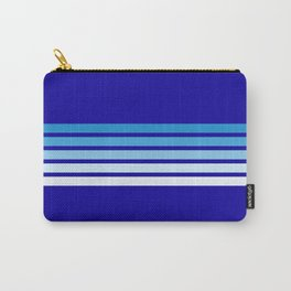 Retro Stripes on Blue Carry-All Pouch