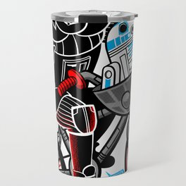 Darth Vader and R2D2 Shredding! Travel Mug