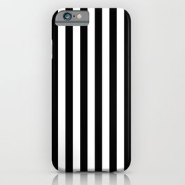Abstract Black and White Vertical Stripe Lines 8 iPhone Case