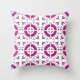 Flamingo Talavera Tiles Throw Pillow