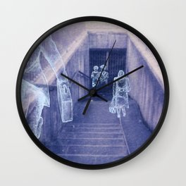 The city remembers; underground tunnel Wall Clock