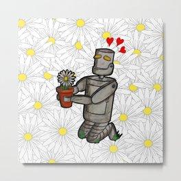 Gardening robot Metal Print