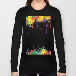 Paint Watercolor Splatter Long Sleeve T-shirt