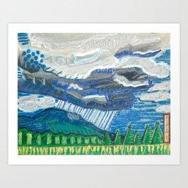 Rain in the Blueridge Art Print