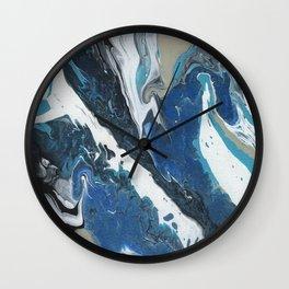Oceanic 2 of 2 series - Fluid Acrylic Painting Print Wall Clock