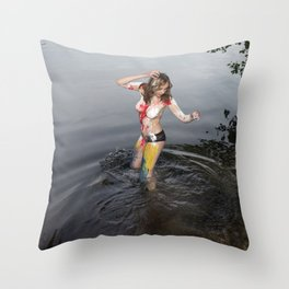Devil is Fine Throw Pillow