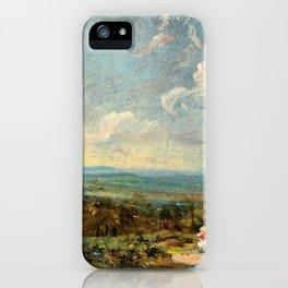 "John Constable ""Hampstead Heath looking towards Harrow"" (2) iPhone Case"