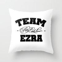 ezra koenig Throw Pillows featuring PLL - Team Ezra Pretty Little Liars by swiftstore