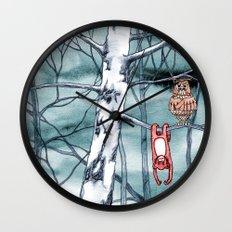 Bored monkey Wall Clock
