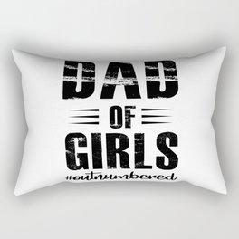 DAD OF GIRLS OUTNUMBERED Rectangular Pillow