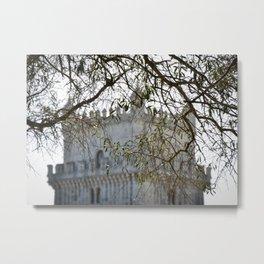 Belem Tower Through Trees Metal Print