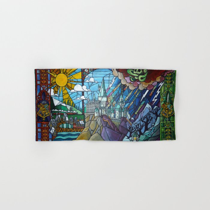 Hogwarts stained glass style Hand & Bath Towel