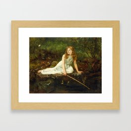 """John Collier """"The Butterfly inscribed 'Portrait of Mabel...'"""" Framed Art Print"""