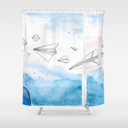The Dreaming Engineer IIa Shower Curtain