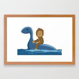 Little Loch and Foot Framed Art Print