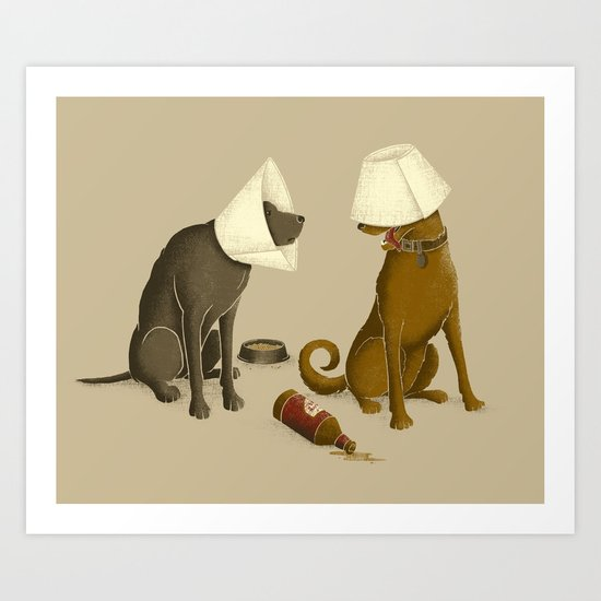 Drunk Dog Art Print