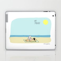 Mochi the pug sunbathing Laptop & iPad Skin