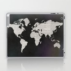 Newsprint World Map Laptop & iPad Skin