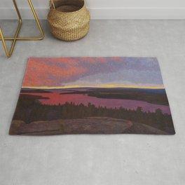Mountaintop Landscape at Dawn by Hilding Werner Rug