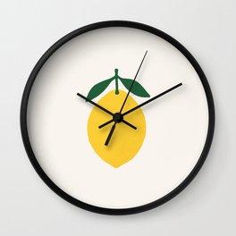 Lemon Citrus Wall Clock