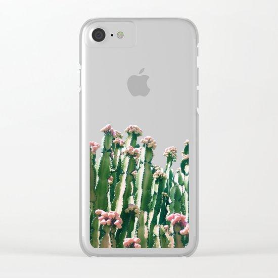 Blush Cactus #society6 #decor #buyart Clear iPhone Case