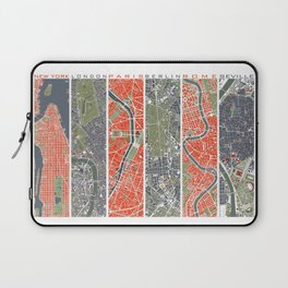 Six cities: NYC London Paris Berlin Rome Seville Laptop Sleeve